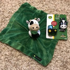John Deere cow Lovey and wrist rattles